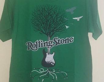 Rolling Stone Magazine Guitar Tree Logo T-Shirt
