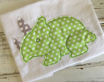 Dinosaur 1 Bean Stitch Applique Embroidery Design 4x4 5x7 6x10