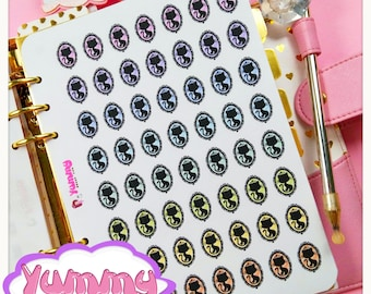 2 Sheets Cameow Stickers