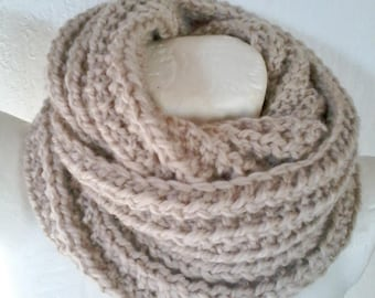 double soft scarf to wrap snood large cowl neck wool