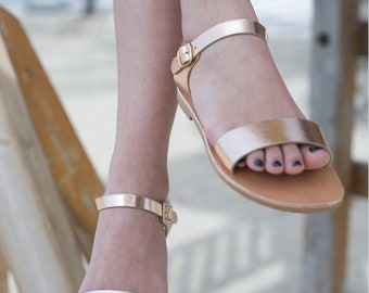 Women sandals, Ancient greek sandals, Classic sandals, Hand made leather sandals, Rose gold sandals, Black sandals, NY leather stories