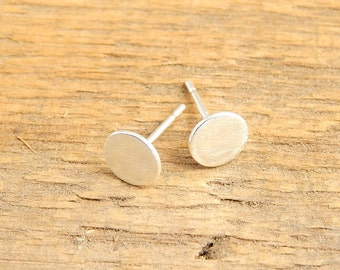 Small silver stud earrings. 6 mm sterling silver post earrings.