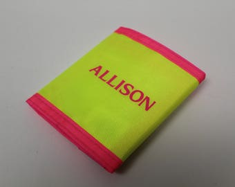 90s Wallet - Neon Yellow and Neon Pink - ALLISON - Like New