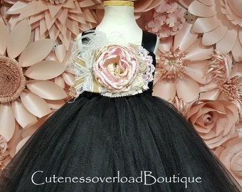 Black Tutu Dress-Black Wedding Tutu-Black Flower Girl Tutu Dress-Black Girl Tutu-Black Girl Tutu-Black Halloween Tutu-Black Wedding Tutu