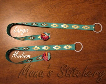 Ribbon and Button Bookmark   Native American Ribbon Bookmark   Two Sizes Available