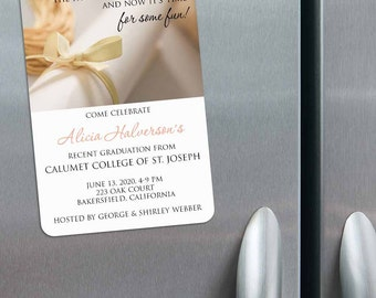 Diploma - Graduation Save the Date Magnets + Envelopes