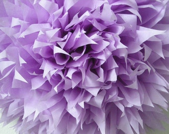 LILAC 1 tissue paper pompom pastel purple wedding decorations first birthday party chair back aisle marker easter unicorn theme bat mitzvah