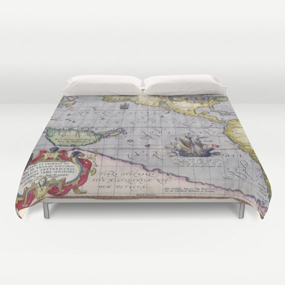 Antique world map duvet cover vintage world map bedding old antique world map duvet cover vintage world map bedding old map bedspread cover unique design dorm ancient map world map decorold map gumiabroncs Image collections