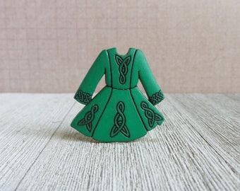 Traditional Irish Dress - Ireland - St. Patrick's Day - Dress Up - Costume - Custom - Lapel Pin