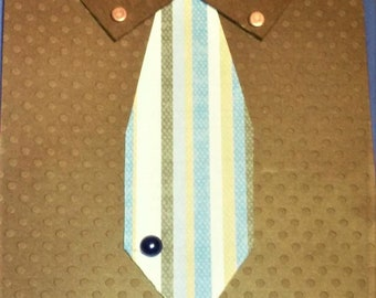 "Happy Birthday ""Men's Shirt and Tie"" Card"