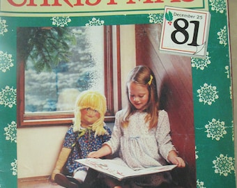"Vintage craft book "" Have A Natural Christmas "" 1981  used booklet 94 pages"