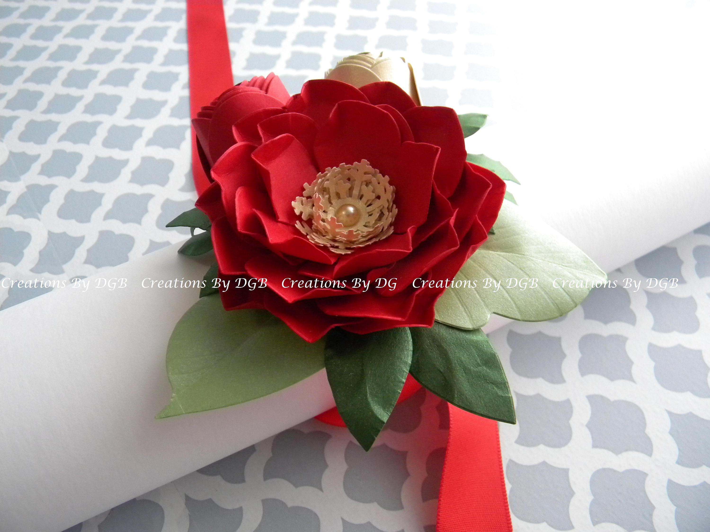 Paper Flower Corsage Wedding Wrist Corsage Bridesmaids