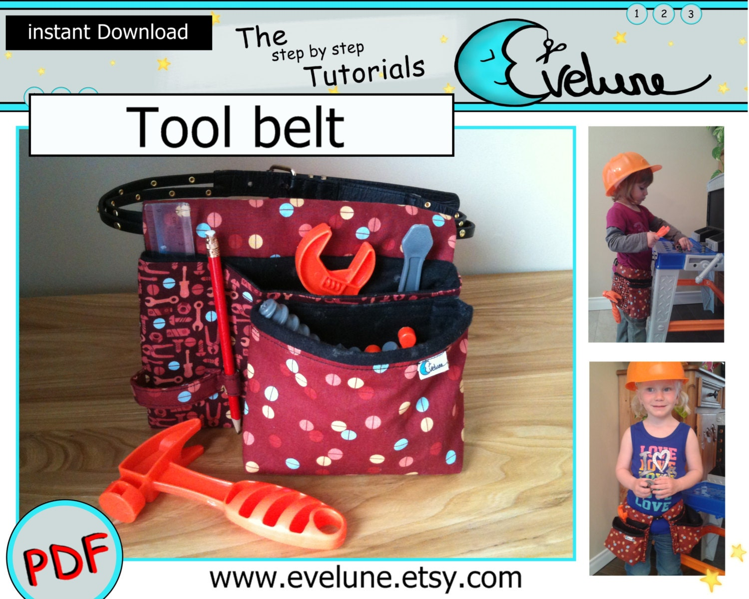 Tool belt for kids sewing pattern carpenter pouch zoom jeuxipadfo Images