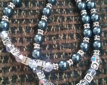 Swarovski Pearl, Crystal and Sterling Silver Beaded bracelet