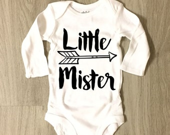 Little Mister bodysuit - Little Brother bodysuit - infant or toddler bodysuit - coming home outfit