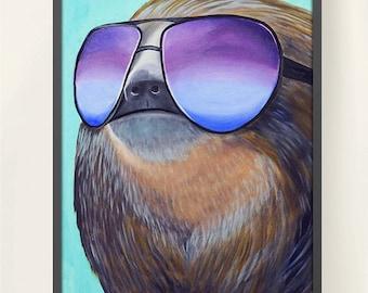 11 x 17 Sloth Family 1 Meme Poster Print