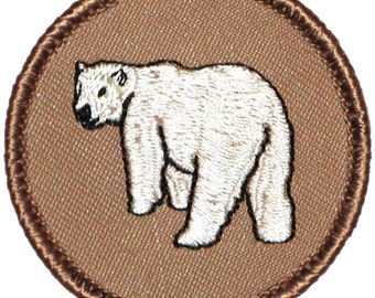 Polar Bear Patch (191) 2 Inch Diameter Embroidered Patch