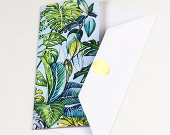 Tropical Plants Greeting Card