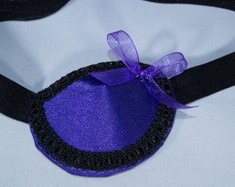 Adult Purple and Black Fabric Eyepatch, eye patches, vision accessory, eyewear, amblyopia, lazy eye, woman's, strabismus, medical