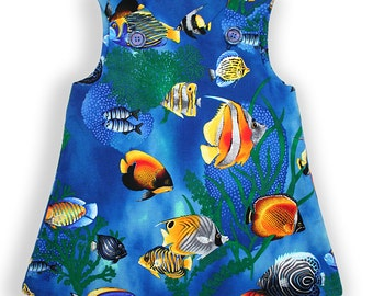 Under The Sea Pocket Pinafore Dress