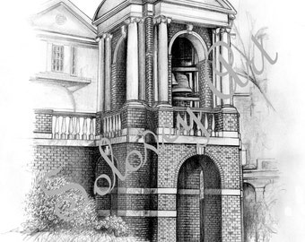 Sweet Briar College Bell Tower By Artist Michael Solovey