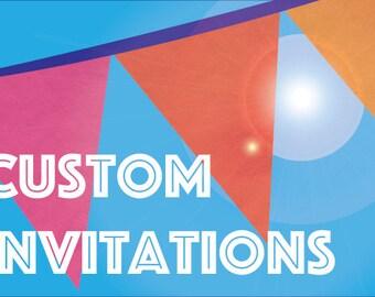Custom Child's Birthday Party Invitation