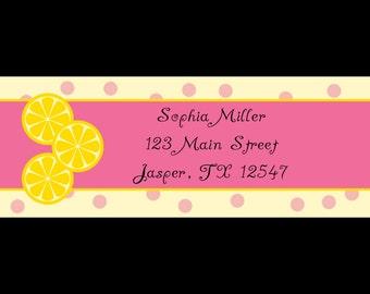 30 Return Address Labels - Sweet Lemonade