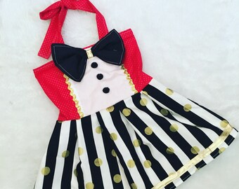 Ring master, circus, dress, pageant wear, Halloween, Costume, Boutique Style,size NB, 3, 6, 9 18, 12, 24 months, 2T, 3T,4T, 5T
