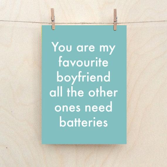 Boyfriend card,Funny love Card