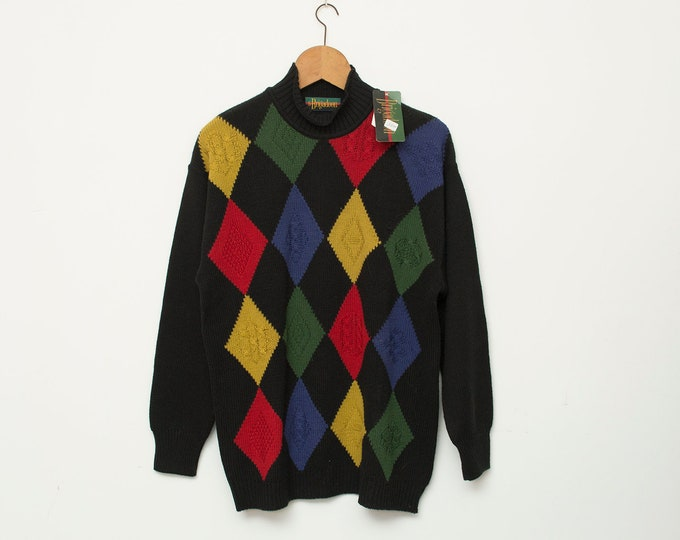 Sweater NOS vintage color diamonds sweater