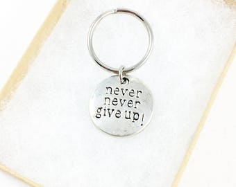 Keychain for Women, Inspiration Gift, Motivational Gifts, Inspirational Gifts, Encouragement Gifts, Mental Health, Keep Going, Never Give Up