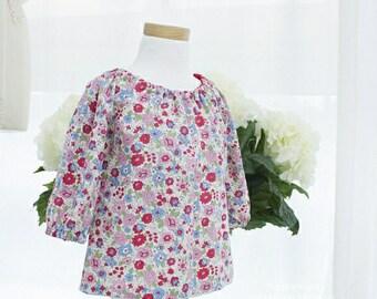 290 Ella Raglan Blouse LS (6 - 24 Months) PDF Sewing Pattern