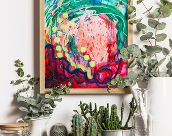 Abstract Painting, Abstract Art, Home Decor Wall, Mothers Day Gift, Birthday Gift For Mom, Spring Decor, Home And Living Gifts