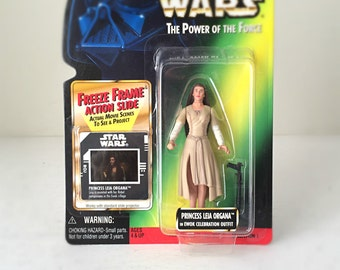 Princess Leia Star Wars Toy, Vintage Star Wars Gift for Her, Star Wars Lover Gift for Kids, 90s Kenner Action Figure, Carrie Fisher