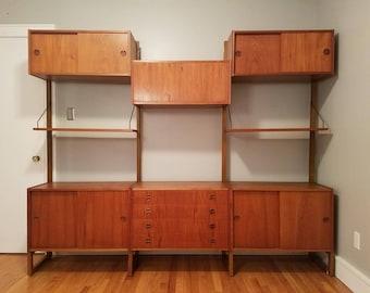 Mid Century Danish Modern modular wall unit HG Furniture