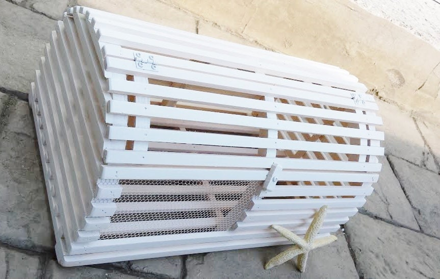 LOBSTER TRAP CARDBOX Unfinished Wood No Paint Diy Wedding