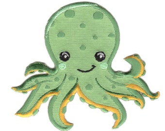 Octopus Iron-On Patch Applique - Kids / Baby