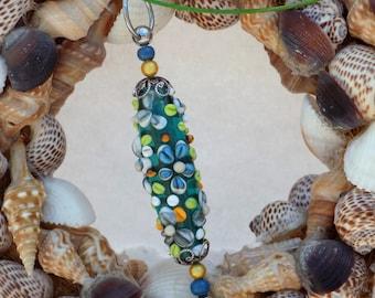 """""""lampwork"""" nail 8 Lampwork bead pendant"""