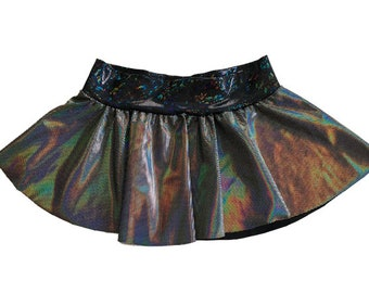 Techno Baby Mini Skirt, Rave Skirt, Micro Skirt, Hologram Skirt, EDC Outfit, Holographic, Rave Outfit, Festival Skirt, Booty Shorts, EDC