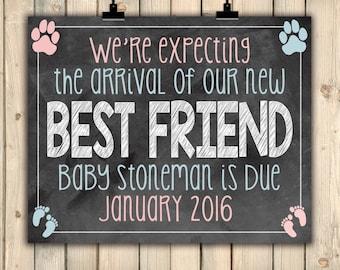 Dog Pregnancy Announcement, Pets Pregnancy Announcement, Doggy Pregnancy Reveal, Best Friend, Pregnancy Announcement For Dogs, DIGITAL