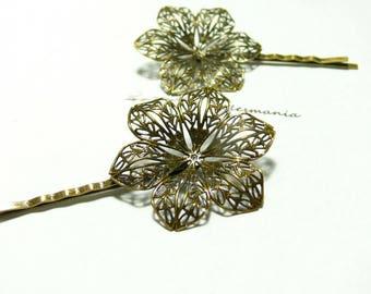 1 pin ref20854 3D flower Bobby pins
