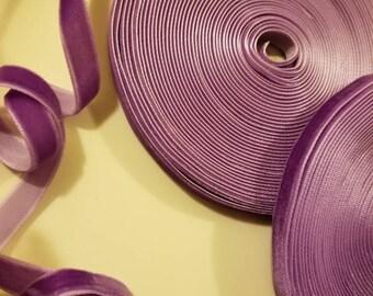 """lavender velvet ribbon 3/8"""""""