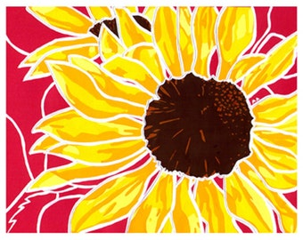 Sunflowers: Flower Print 8x10