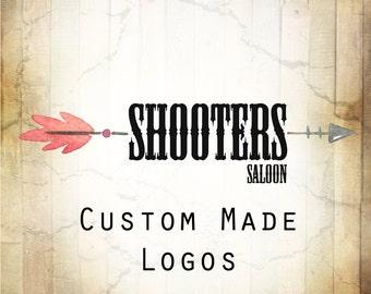 LOGO in SHOOTERS•Premade Logo•Jewelry Card Logo•Watercolor Logo•Custom Logo•Shop Logo