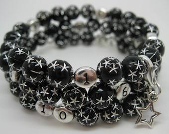 Nursing treasure bracelet black star