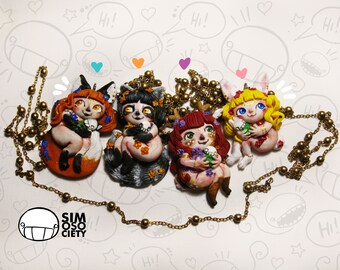 SALE! Animaladies - Fox - Raccoon - Fawn - Rabbit - Girls Necklace