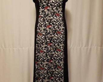 Custom Handmade Walking Dead Full Length Women's Dress with FREE Shipping