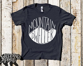 NEW ~ Mountain Dweller ~ Kids Tee ~ Available In Vintage Colors