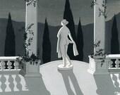 Night Statue (print)