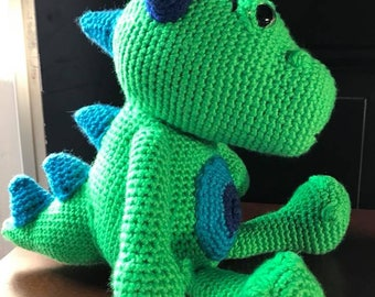 Dragon Crochet Plushie Stuffed Animal Nursery